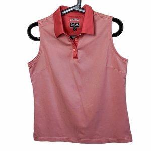 Adidas Climacool Striped Pink Golf Polo Tank